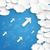 üç · mavi · kâğıt · bulutlar · dizayn · mavi - stok fotoğraf © limbi007