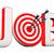 offerte · di · lavoro · target · due · frecce · verde · centro - foto d'archivio © limbi007