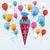 キャンディ · コーン · 風船 · 紙 · eps · 10 - ストックフォト © limbi007