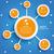 infographic internet networks circles blue sky stock photo © limbi007