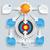 paper arrows big flowchart infographic target stock photo © limbi007