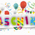 white paper banner balloons jesters cap fasching stock photo © limbi007