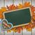 oktoberfest blackboard heart foliage wood ribbons stock photo © limbi007