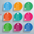 infographic 9 colored abstract speech bubbles stock photo © limbi007