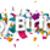 happy birthday confetti stock photo © limbi007