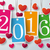 four colored price stickers hearts 2016 stock photo © limbi007