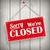 sign wooden background closed stock photo © limbi007