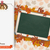 oblong banner foliage thanksgiving turkey blackboard stock photo © limbi007