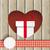 сердце · большой · коричневый · белый · свадьба - Сток-фото © limbi007