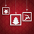 red background ornaments 3 quadrates frames christmas stock photo © limbi007
