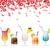 confetti · cocktail · colorato · bianco · eps · 10 - foto d'archivio © limbi007