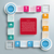 witte · cirkels · opties · banner · ontwerp - stockfoto © limbi007