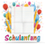 banner balloons letters folded lined paper schulanfang stock photo © limbi007