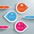 three colored drops line infographic stock photo © limbi007