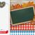 oktoberfest oblong banner blackboard pretzel wood stock photo © limbi007