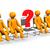 anlamaya · oturma · soru · işareti · kırmızı · iş · arka · plan - stok fotoğraf © limbi007