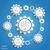 3D · mavi · diş · ikon · beyaz · teknoloji - stok fotoğraf © limbi007