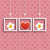 frames 3 colored hearts flowers ornaments stock photo © limbi007