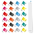zestaw · notatka · sześć · inny · kolory · biuro - zdjęcia stock © limbi007