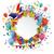 papier · embleem · ballonnen · confetti · banner · witte - stockfoto © limbi007