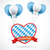 oktoberfest heart red banner balloons stock photo © limbi007