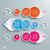 three colored drops batched circles infographic stock photo © limbi007