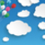 paper clouds striped blue sky balloons paragraph header stock photo © limbi007