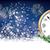 silvester card clock 2017 header snowflakes stars fireworks stock photo © limbi007