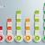 success chart circles batched rectangles stock photo © limbi007