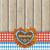 oktoberfest gingerbread heart foliage cloth stock photo © limbi007