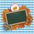oktoberfest blackboard foliage pretzel beer emblem stock photo © limbi007