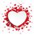 white paper emblem hearts background stock photo © limbi007