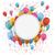 branco · papel · emblema · balões · confete - foto stock © limbi007