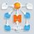 paper arrows big flowchart infographic stock photo © limbi007