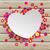 hart · bloemen · houten · tafel · eps · 10 · vintage - stockfoto © limbi007