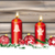christmas symbols 4 candles header card worn wood stock photo © limbi007