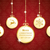 golden christmas 5 circles red ornaments stock photo © limbi007
