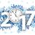 2017 blue snowflakes clock white background stock photo © limbi007