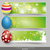 three easter banner with easter eggs stock photo © limbi007