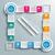 groot · twee · pijlen · vier · gekleurd - stockfoto © limbi007