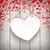 sevgililer · günü · asılı · kâğıt · kalpler · vektör · sevmek - stok fotoğraf © limbi007
