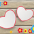 pembe · iki · kalpler · sevgililer · günü · kalp · dizayn - stok fotoğraf © limbi007