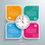 round colored quadrates template 4 options clock centre stock photo © limbi007