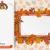 oblong banner foliage thanksgiving turkey paperboard stock photo © limbi007