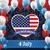 Rood · ballon · Amerikaanse · vlag · witte · kinderen - stockfoto © limbi007