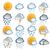 hava · durumu · simgeler · bulutlar · gökyüzü · doğa · yaprak - stok fotoğraf © limbi007