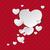 white hearts speech bubble ornaments stock photo © limbi007