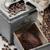 kahve · öğütücü · eski · çuval · bezi · kahve · çekirdekleri · ahşap · masa - stok fotoğraf © limpido