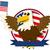 kaal · adelaar · Amerikaanse · vlag - stockfoto © lindwa