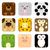 panda · icon · gezicht · leven · jonge · schone - stockfoto © lindwa